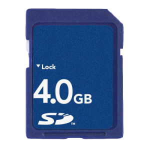 SD card for G-scan